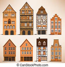 maisons, classique, européen