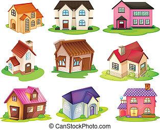 maisons, différent