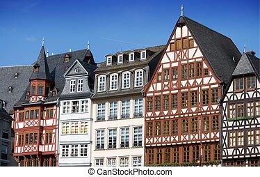 maisons, francfort, demi-timbered