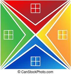 maisons, logo