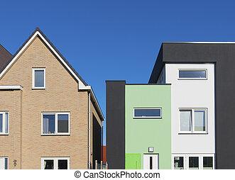 maisons, moderne