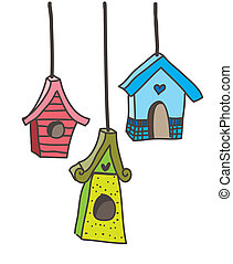 maisons, oiseau