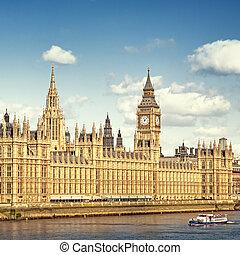 maisons, parlement, london.