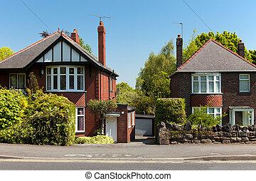 Maison typique anglaise image de stock recherchez for Maison anglaise typique plan