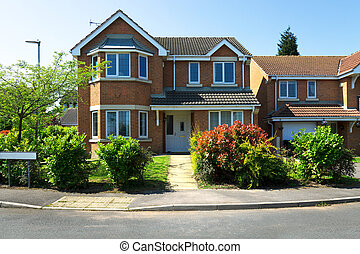 maisons, typique, anglaise
