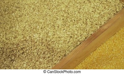 Maize sold in supermarket stock footage video