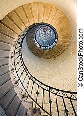 maják, schodiště, 3