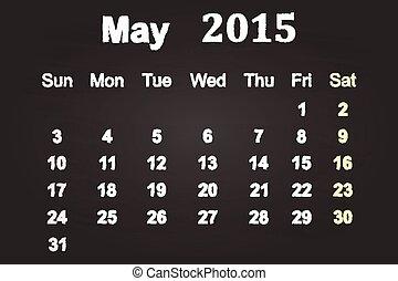 maj, 2015, månad
