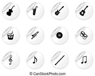 majchry, muzyczny, ikony