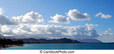 majestätisch, himmelsgewölbe, hawaii