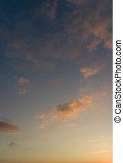 majestätisch, tones., weich, wolkenhimmel, himmelsgewölbe