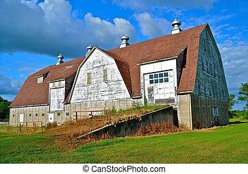 majestatyczny, historyczny, stodoła