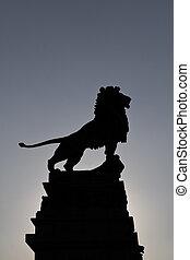 Majestic - A majestic pose of a bronze lion outside Vienna...