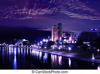 Majestic Adelaide - The River Torrens, Adelaide tinted by...