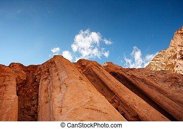 Majestic Amram pillars rocks in the desert near Eilat in Israel