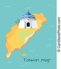 Majestic Chiang Kai-shek Memorial Building on Map - Majestic...