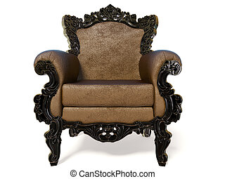 armchair - majestic classic armchair on white background...