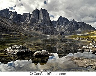 Divide Mountain - Majestic Divide Mountain is reflected in ...
