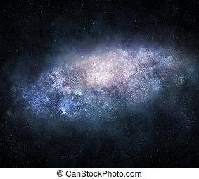 Majestic galaxy - Illustration of bright enormous galaxy...