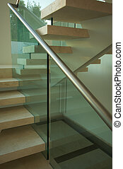 Majestic Marble Stairs and Glass