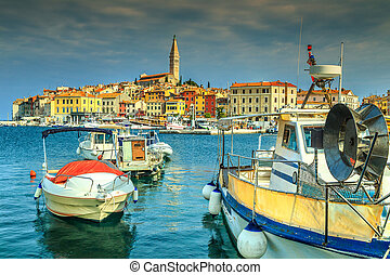 Majestic morning with Rovinj old town, Istria region, Croatia, Europe