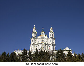 Majestic mountains of the Orthodox Church in Europe
