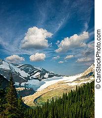 Majestic Peaks on Hidden Lake Trail - Rugged mountain...