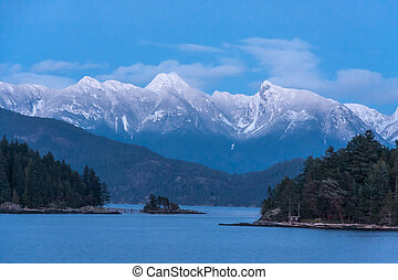 Coastal Mountains On The West Coast Of Canada