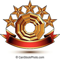 Majestic vector golden ring isolate