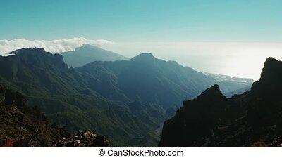 Majestic view at Roque De Las Muchachos Canyon, La Palma -...