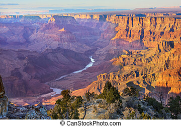 Majestic Vista of the Grand Canyon at Dusk - Beautiful...