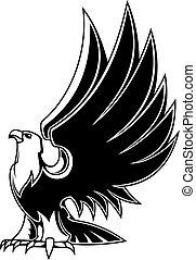 majestuoso, águila, mascota