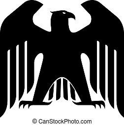 majestuoso, águila, negro