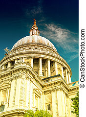 Majesty of St Paul Cathedral on a sunny day, London