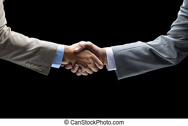 majetek, temný grafické pozadí, -, handshake, rukopis