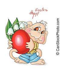 majom, heppy, liliomok, menstruáció, húsvét, ábra, fog, ...