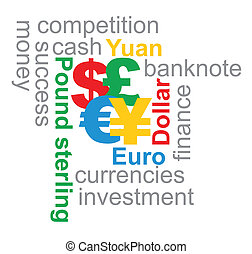 Major currencies illustration