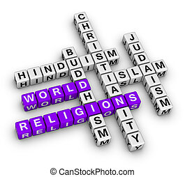 major world religions - Christianity, Islam, Judaism, ...