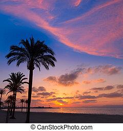Majorca El Arenal sArenal beach sunset near Palma