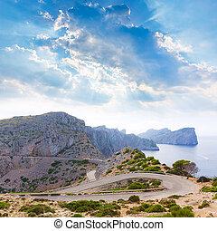 Majorca Formentor Cape in Mallorca island
