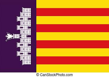 Majorca Island flag