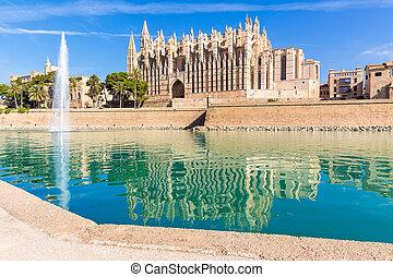 Majorca Palma Cathedral Seu Seo of Mallorca at Balearic...