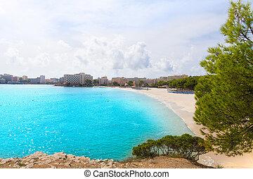 Majorca Platja Palmanova beach in Calvia Bol Teules -...