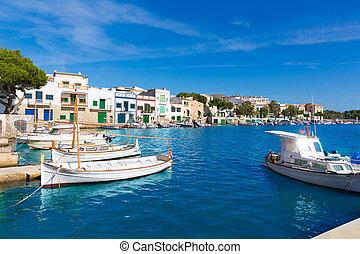 Majorca Porto Colom Felanitx port in mallorca Balearic...