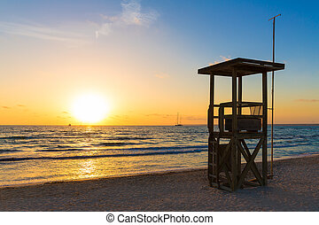 Majorca Sunset in Es Trenc beach in Campos of Mallorca at ...