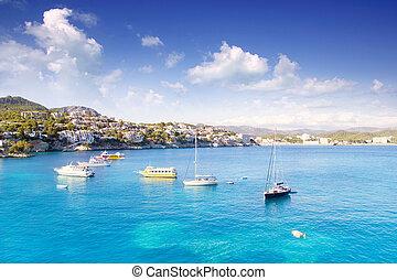 majorca, sziget, tengertől távol eső, cala, fornells, ...