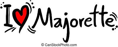 Majorette love - Creative designof majorette love