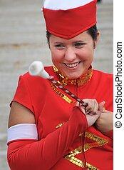 Majorette - smiling teen in uniform