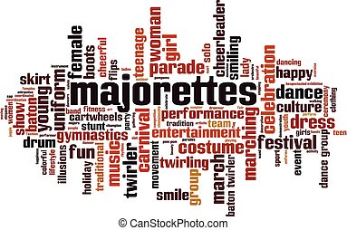 majorettes, 雲, 単語