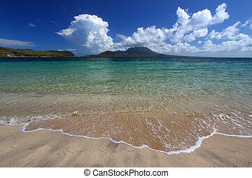Majors Bay Beach - St Kitts - Major\\\'s Bay Beach on the...